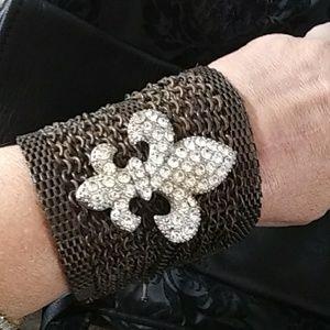 Fluer De Lis Wide Bracelet